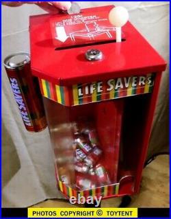 Life Savers grabber vending machine vintage coin-op dispenser. SEE MOVIE