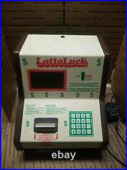 Lotto Luck Vintage Coin Op Lucky Numbers Machine Quarter GAMETRONIX UNTESTED