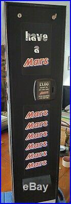Mars Bar Vending Machine Chocolate Wall Type Vintage Retro Mancave Home Bar