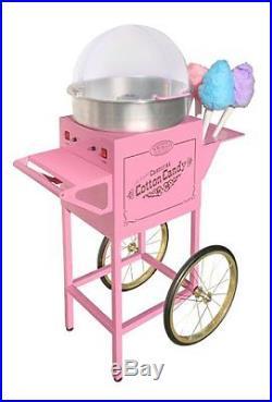 NEW Nostalgia CCM-600 Vintage Collection Large Cotton Candy Cart Machine Maker