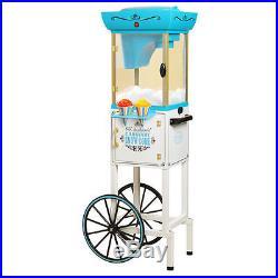 NEW Nostalgia Electrics SCC399 Vintage Collection Snow Cone Cart Maker Machine