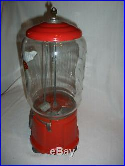 NICE! Vintage Gumball Machine NORTHWESTERN 1¢ TRY-SOME Excellent Shape! 16 TALL