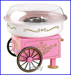 New Nostalgia Electrics Vintage Collection Sugar Free Cotton Candy Maker $0Ship