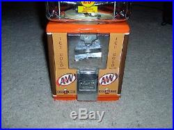 Northwestern A&W Root Beer Restored Gumball Machine Vintage Keychain Gorgeous