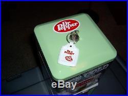 Northwestern Dr Pepper Green Restored Gumball Machine Vintage Keychain Gorgeous