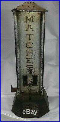 Northwestern Vending Machine Art Granite Coin Op Matches Vendor Vintage Counter