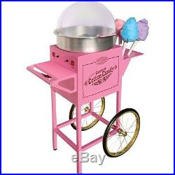 Nostalgia Electrics Cotton Candy Machine Cart, Commercial Vintage Spinner Stand