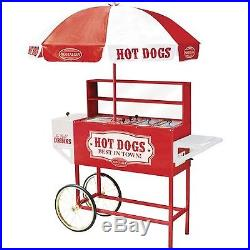 Nostalgia HDC701 48-Inch Tall Vintage Series Commercial Hot Dog Cart with Umb