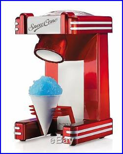 Nostalgia Retro Design Single Snow Cone Maker Vintage Snowcone Machine