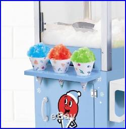Nostalgia Vintage Cart Snow Cone Maker Machine Deluxe Shaving System Ice Crusher