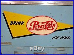 ORIGINAL Vintage Pepsi Cola Soda Pop Refrigerated Cooler