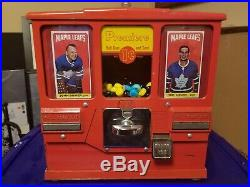 Oak Premiere Vintage Baseball Card Coin Operated Gumball Vending Machine