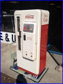 Original & Clean Rare WHITE Cavalier 72 Coke Machine vintage vending coca cola