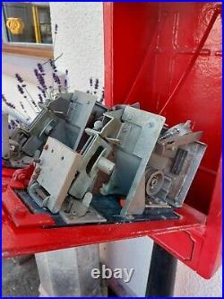 Original Gpo Stamp Vending Machine And Pedestal Rare Post Box Telephone Box