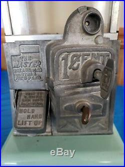 Original The Master 1 Cent Gumball Peanut Machine w Key Vintage Gum Vending