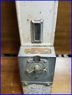 Original Vintage Antique 5 Cent Hershey's Candy Coin Op Vending Machine