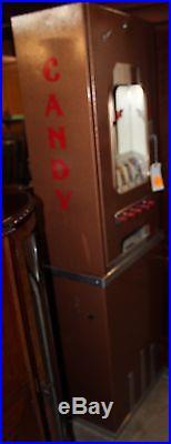 Original Vintage Fawn Art Deco Vending Machine