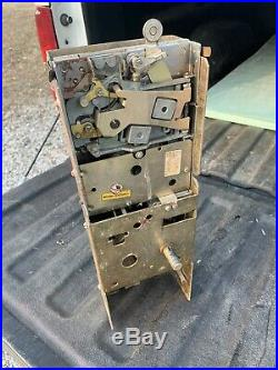 Original Vintage Vendo 56 81 110 Large Door Coin Mech Soda Machine VMC