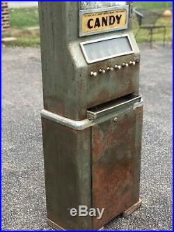 Original vintage 5 cent candy machine