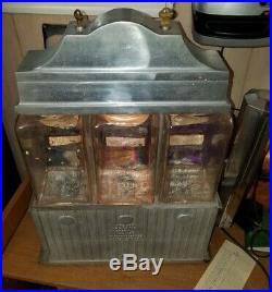 Original vintage Ajax 1940s Hot Nuts 3 globe all works machine everything origin