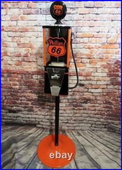 PHILLIPS 66 gas Oak vintage gumball machine Americana memorabilia candy machine