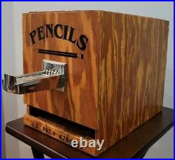 Pencil Vending Machine Seaboard Pencil Company Vintage Coin Operated 25 Cents