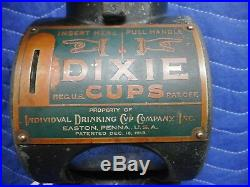 Penny Operated DIXIE CUP Dispenser Vintage Antique One Cent Patent 1913