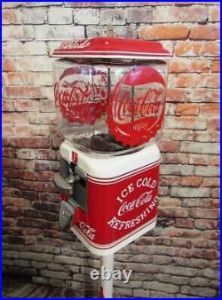 Penny machine Coca cola vintage Acorn glass globe 1 cent gumball machine