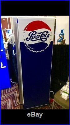 Pepsi vintage refrigerator/cooler (Glass door commercial)