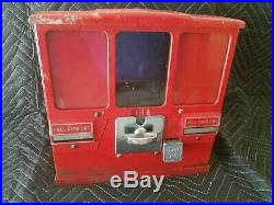 Premiere Vintage Baseball Card Coin Operated Gumball Vending Machine