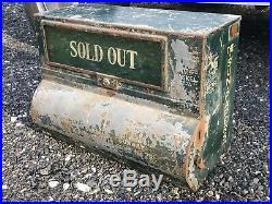 RARE Antique 1920s Baltimore Sun MD Newspaper Vending Machine Coin Op 5 Cent VTG