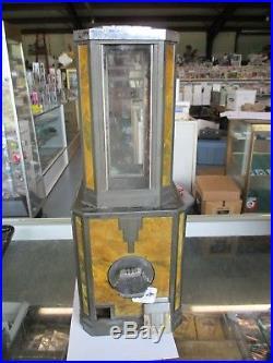 RARE VINTAGE 1936 STEWART-McGUIRE GUMBALL MACHINE MARBLE-COLORED