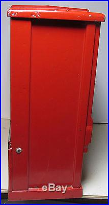 Rare Vintage 1 Cent Vending Machine For Gum Balls And Baseball Cards Must See