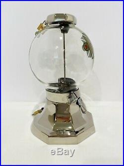 RARE VINTAGE CIRCA 1930's R. D. SIMPSON GUMBALL CANDY NUT 1 CENT VENDING MACHINE