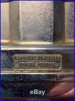 RARE-VINTAGE Faceted Glass Dixie Cup Dispenser / U. S. Patent Number 1261950