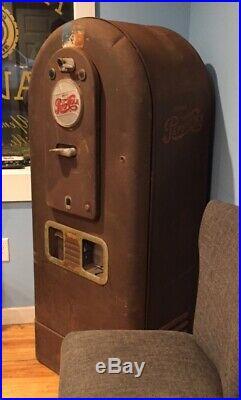 RARE VINTAGE PEPSI Soda Light Up Jacobs Model 56 Vending Machine All Original