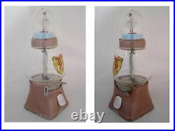 RARE VINTAGE SILVER KING MUSICAL BALLERINA VENDING MACHINE 1950'Working' AS-IS