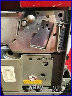 RARE VINTAGE c1957 VENDORLATOR 27 COKE MACHINE withSTAND, KEYS, ORIGINAL & COLD