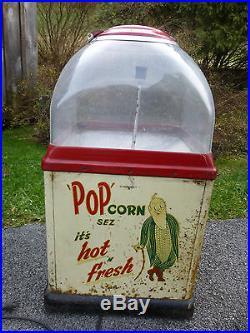 RARE Vintage 1940s T & C Co. TC-15 POPcorn Sez Counter Warmer Vending Machine
