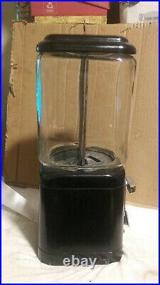 RARE Vintage Acorn 1 Cent 1 Toy Gum Machine TEAR DROP FLAP WithKey
