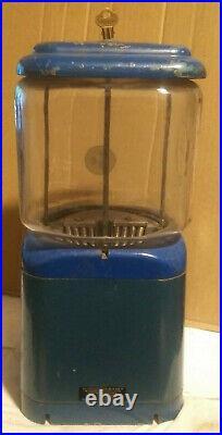 RARE Vintage Acorn 1 Cent 1 Toy Gum Machine TEAR DROP WithKey EMBOSSED ACORN