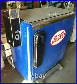 RARE Vtg 1950s Pepsi Cola Ideal A-55 (Double-Dot Slider) Coin-Op Vending Machine