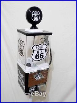 ROUTE 66 gas pump vintage gumball machine + stand