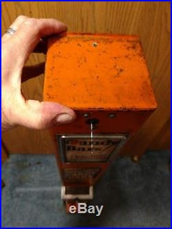 Rare Antique Vintage 5 Cent Candy Machine Vending St. Paul Minn Chocolate 1923