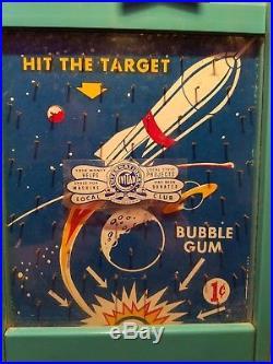 Rare MID Century Vintage Space Age Rocket Gumball Vending Machine
