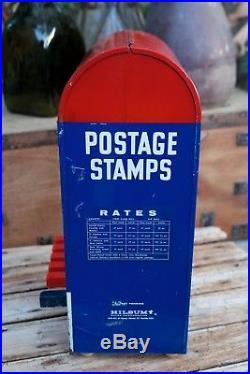 Rare Vintage Hilsum Sales Corp U. S. Postage 5 Slot Deluxe Stamp Vending Machine