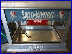 Rare Vintage MCM SnoKone Sno-Konette Gold Medal Commercial Countertop Ice Shaver