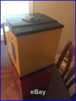 Rare Vintage Victor Gum Ball Machine Uses Both Pennies & Nickels 1940s