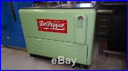 Restored Vintage Antique Dr Pepper Cooler Refrigerated Chest Embossed