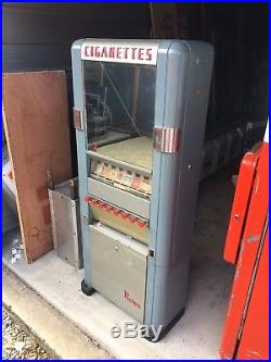 Rowe Cigarette Vending Machine Coin Op Operated Vintage Mirror